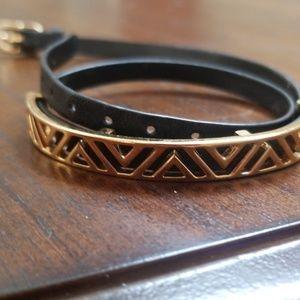 Stella and Dot black and gold wrap bracelet